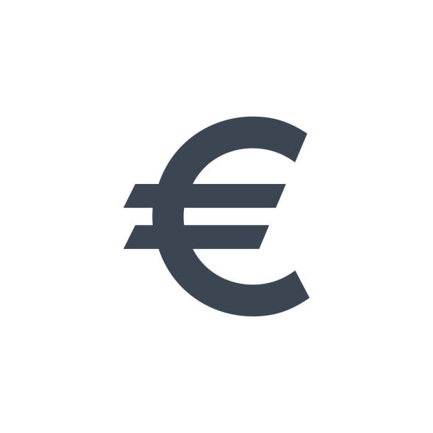 Euro Sign related vector glyph icon. Euro Sign related vector glyph icon. Isolated on white background. Vector illustration. european union currency stock illustrations