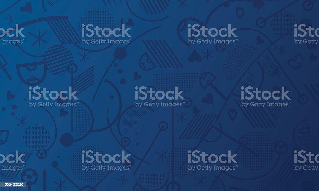 Euro Soccer 2016 Championship football Sport vector art illustration