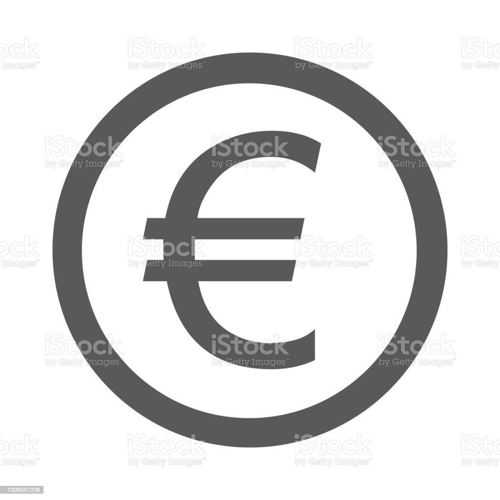 Euro symbol icon simple vector