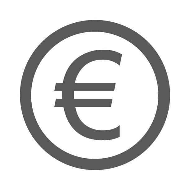 euro symbol icon einfach vektor - flat icons stock-grafiken, -clipart, -cartoons und -symbole
