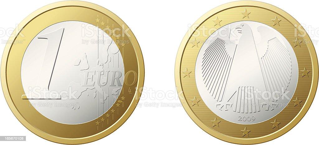 euro vector art illustration