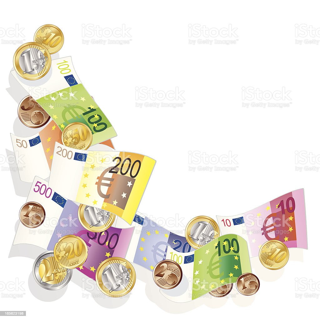 Euro Währung vector art illustration