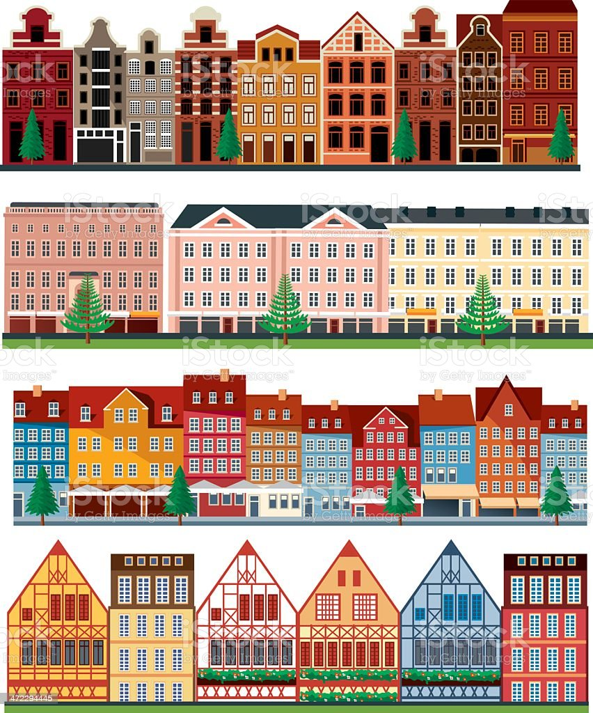Europe architecture royalty-free stock vector art
