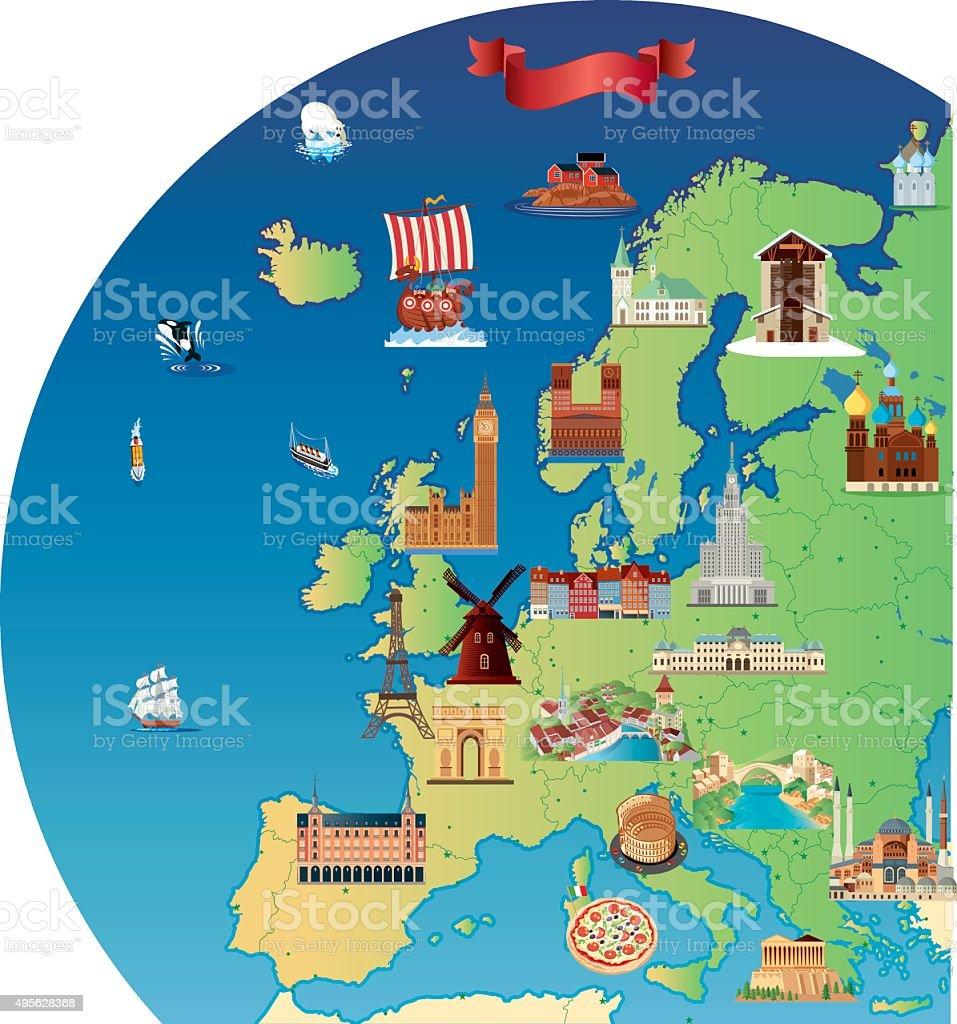 carte europe tourisme