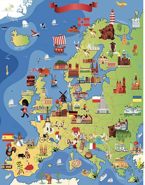ilustraciones, imágenes clip art, dibujos animados e iconos de stock de dibujo mapa de europa - mapa de europa