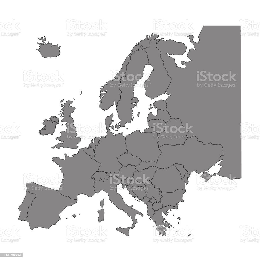 Picture of: Europe Countries Map Stock Illustration Download Image Now Istock