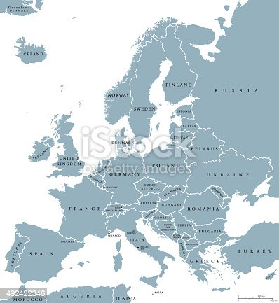 istock Europe Countries Political Map 492422346