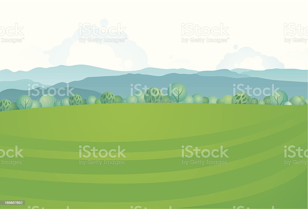 Europe country landscape royalty-free stock vector art