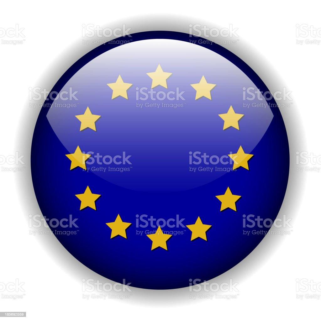 Europe flag button, vector royalty-free stock vector art