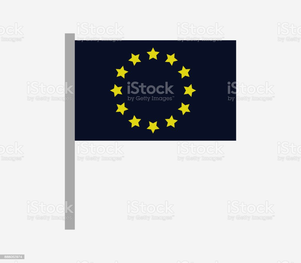europe flag icon vector art illustration