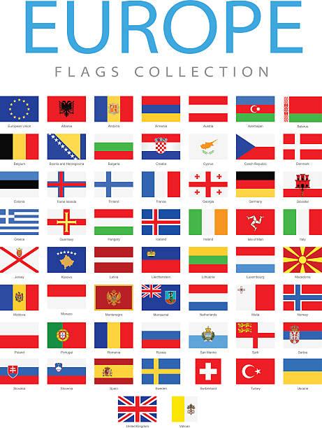 ilustraciones, imágenes clip art, dibujos animados e iconos de stock de europa-banderas-ilustración - bandera irlandesa