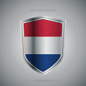 Flags europe vector icon. Netherland flag, isolated. Modern design. National country flag. Country of member the European Union.