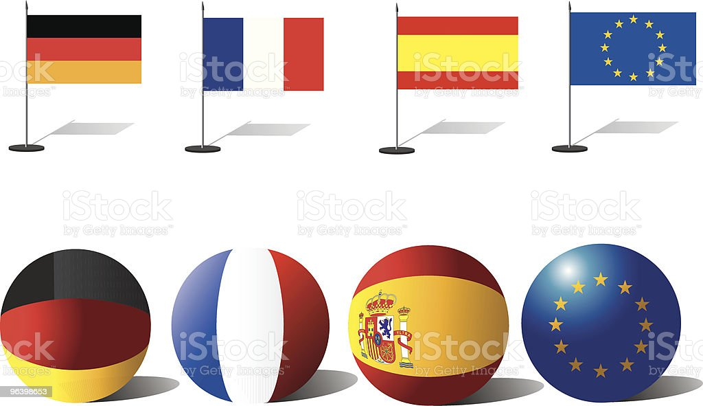 Europe flags royalty-free stock vector art