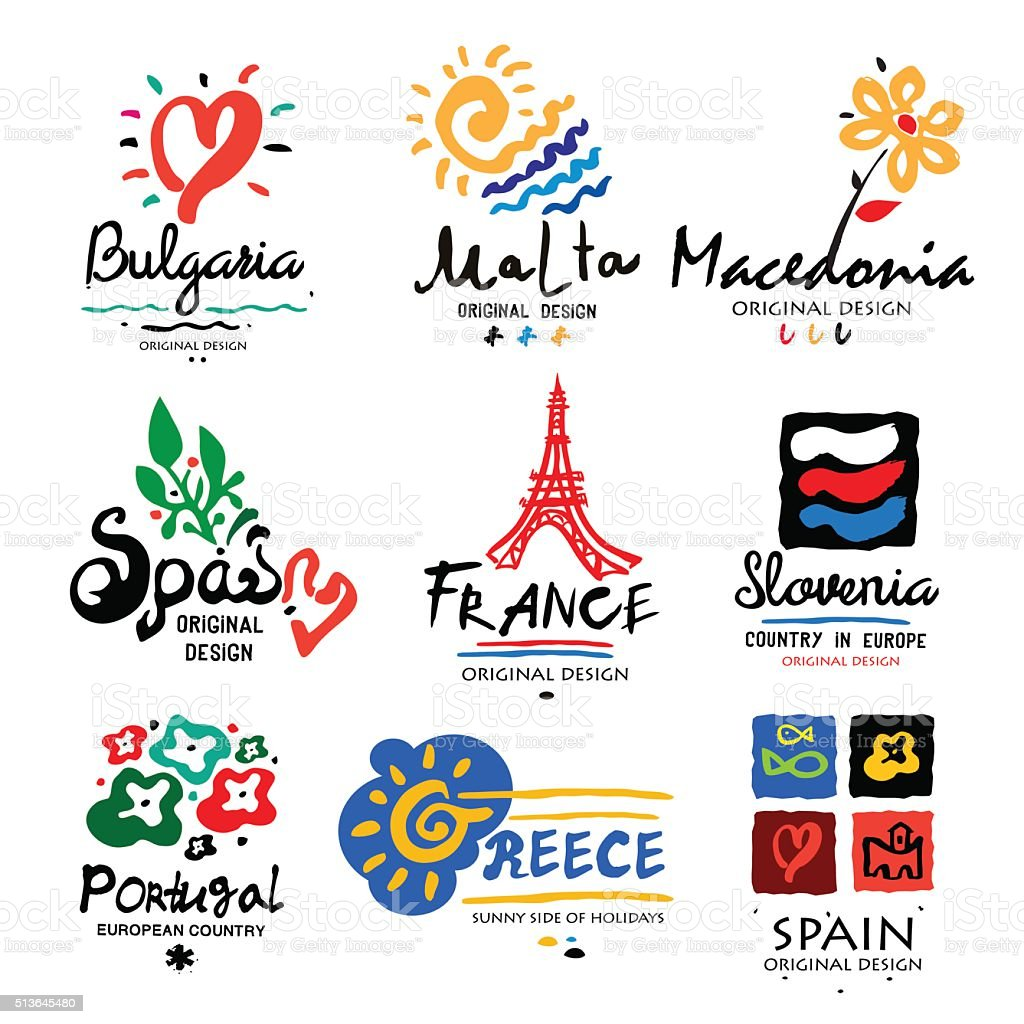 Europe logo. Logo for travel agencies. vector art illustration
