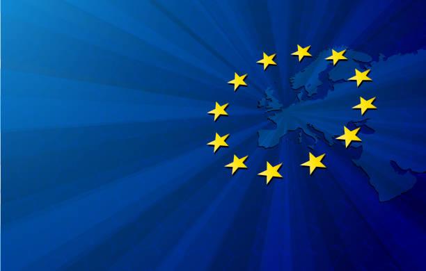 europäischen union karte und flagge - flagge polen stock-grafiken, -clipart, -cartoons und -symbole