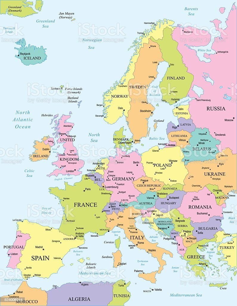 Picture of: Europe Map Illustration Stock Illustration Download Image Now Istock