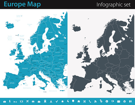 Europe Map - Infographic Set