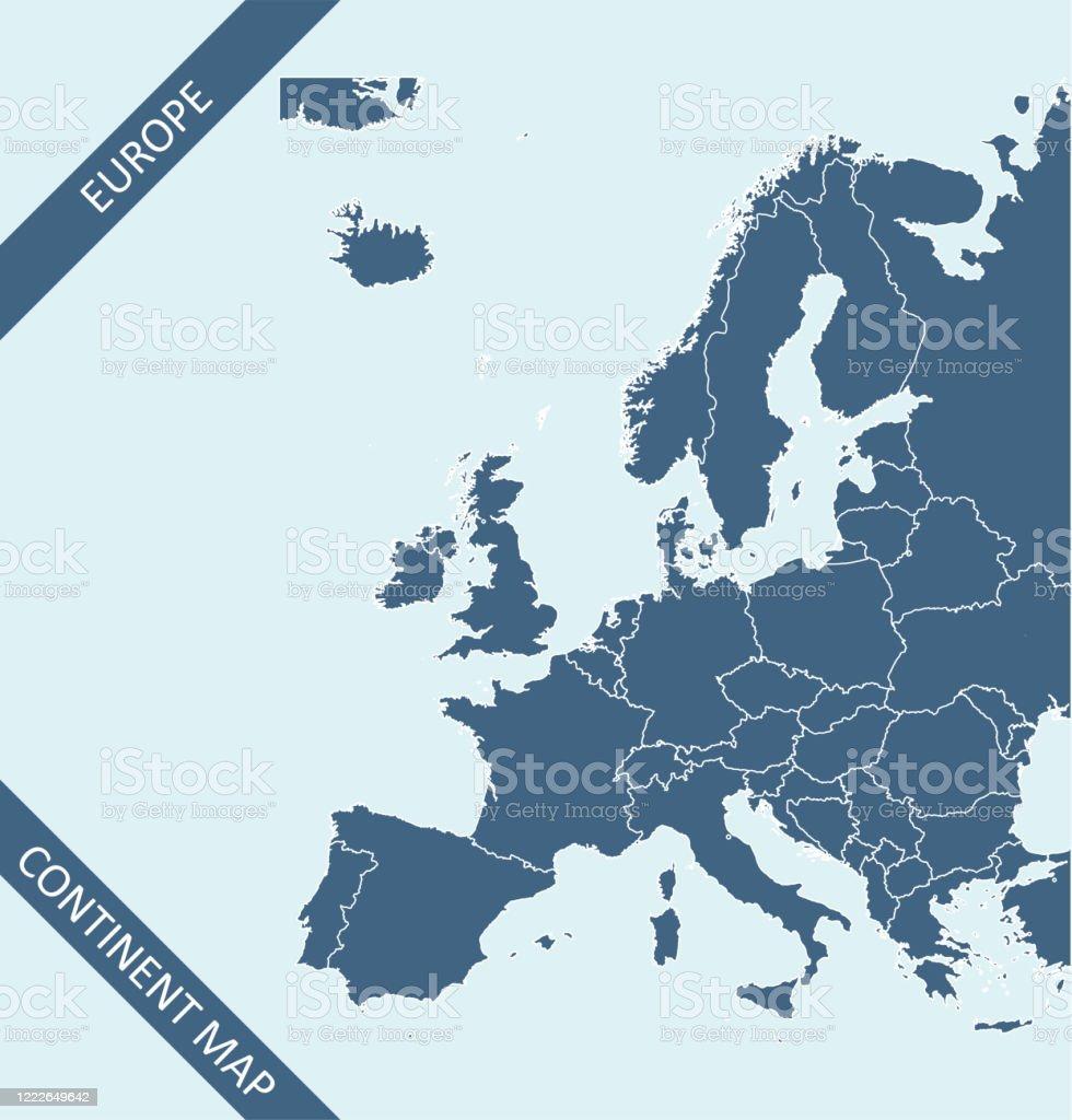 De kaart van Europa - Royalty-free Aanwijsstok vectorkunst