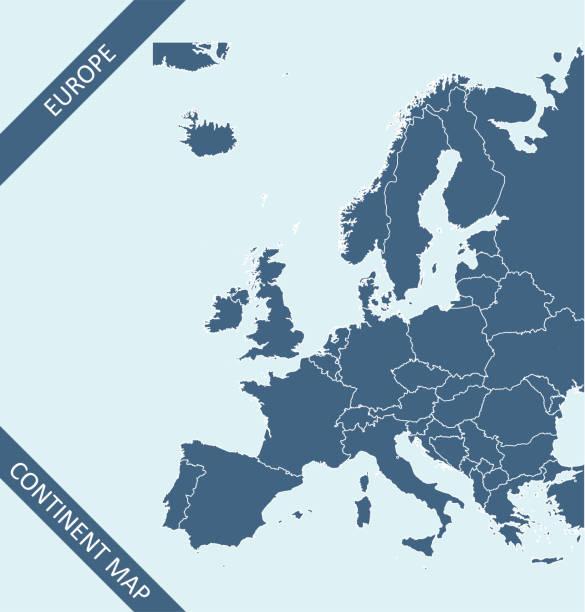 stockillustraties, clipart, cartoons en iconen met de kaart van europa - netherlands map