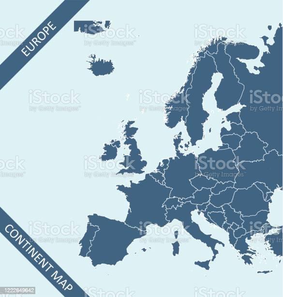 De Kaart Van Europa Stockvectorkunst en meer beelden van Aanwijsstok