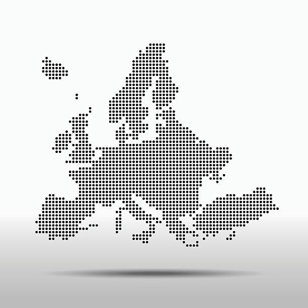 Europe Mapa – artystyczna grafika wektorowa