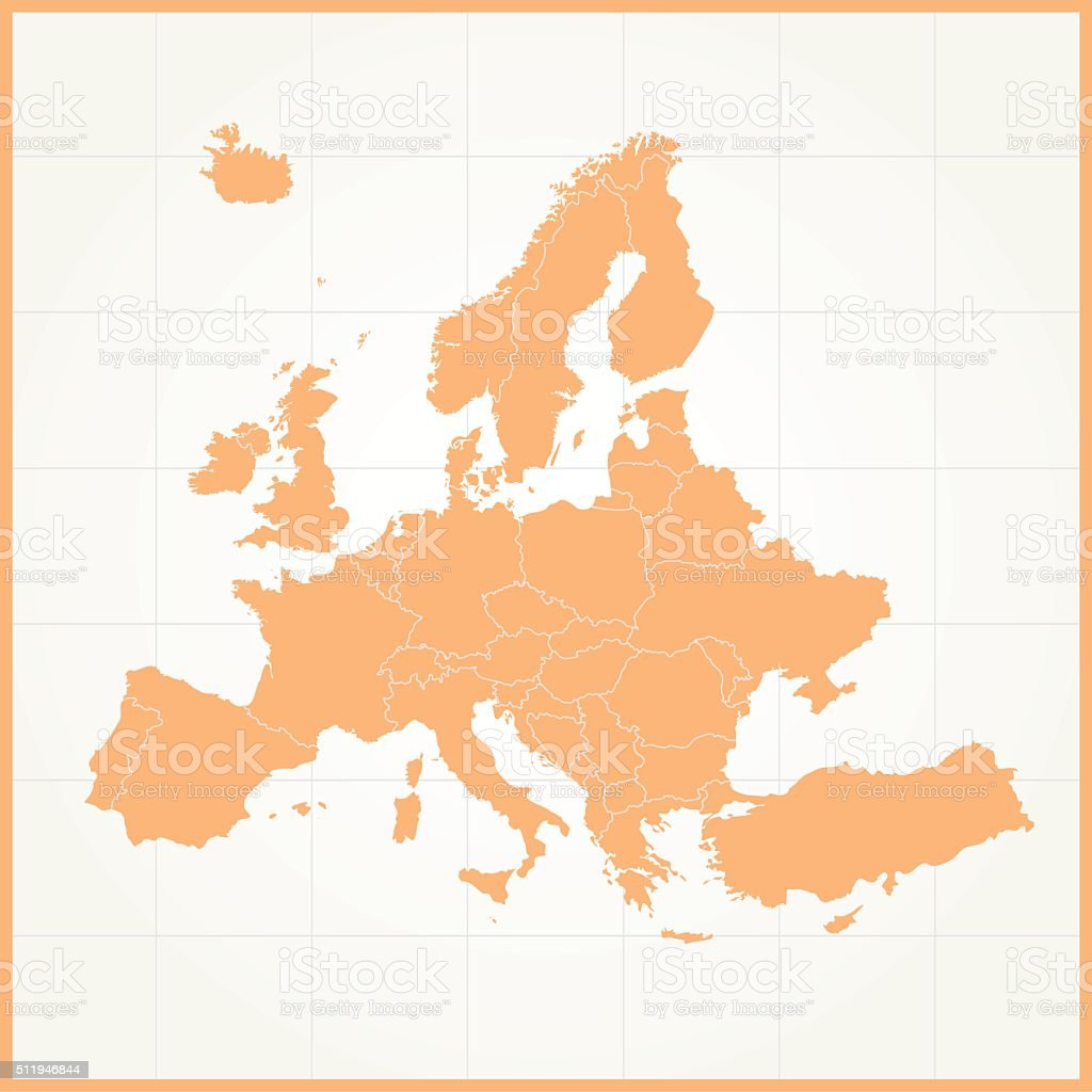 carte europe orange