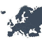 Europe outline map