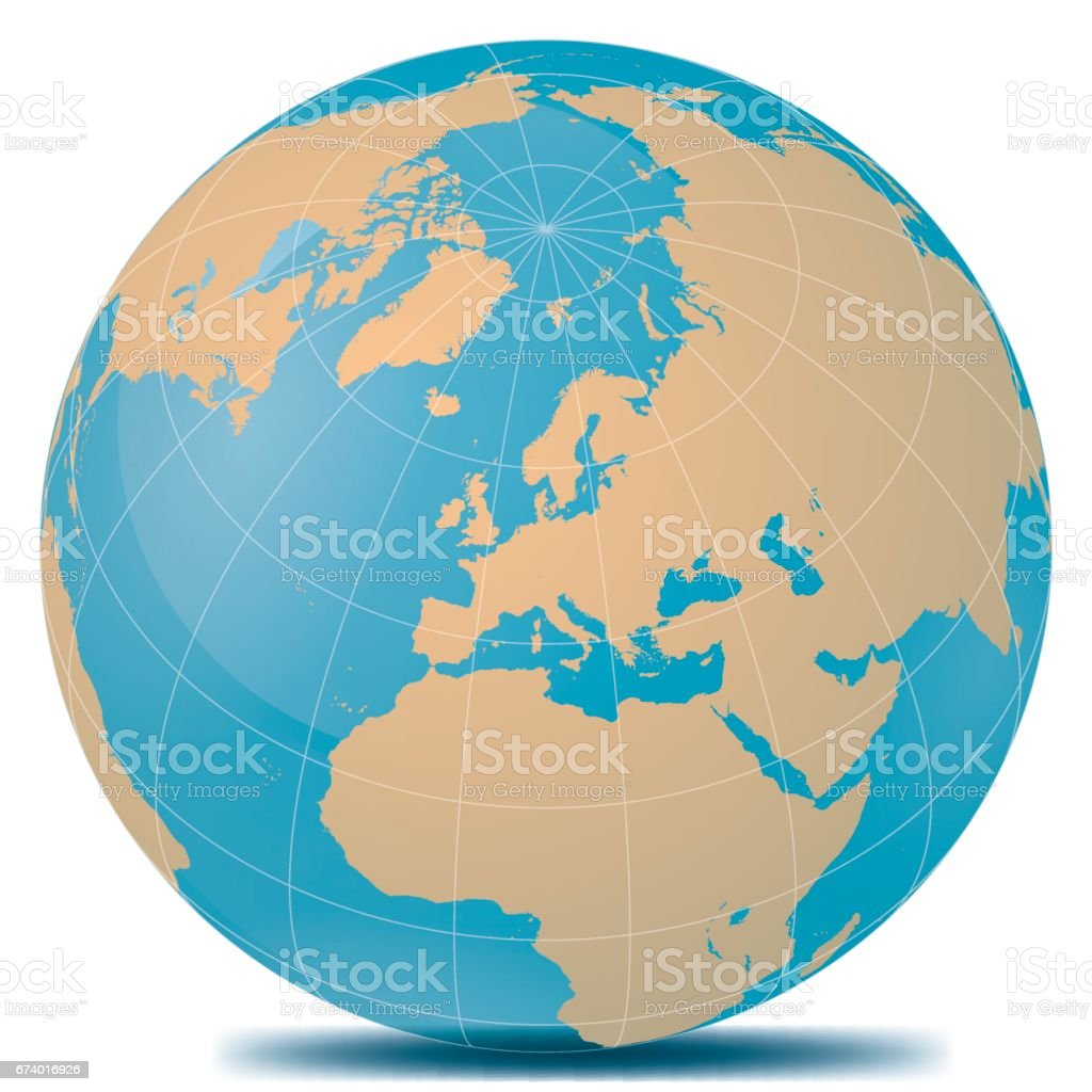 Europe Planet Earth royalty-free europe planet earth stock vector art & more images of beige