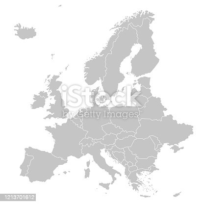 istock Europe - Political Map of Europe 1213701612