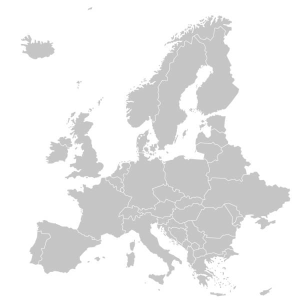 illustrations, cliparts, dessins animés et icônes de europe - carte politique de l'europe - carte europe