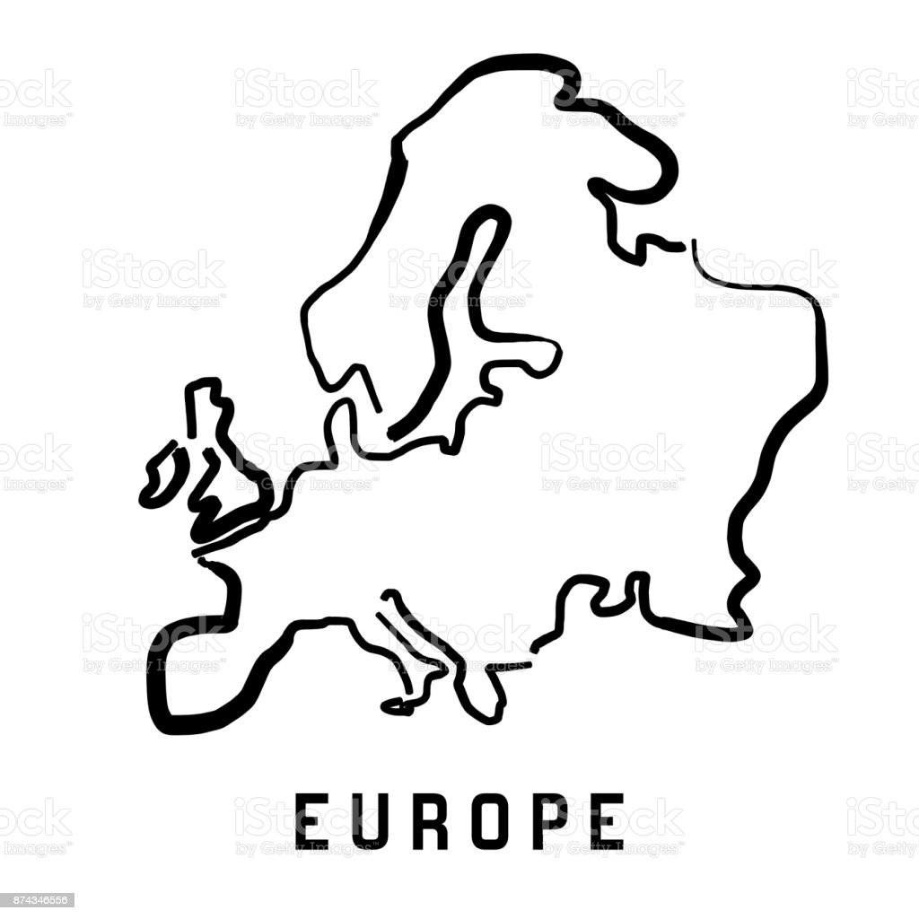 europe-simple-outline-vector-id874346556 Easy To Draw Map Of Spain on easy to draw spain flag, simple map of spain, easy to draw map england, natural map of spain, high quality map of spain, accurate map of spain,