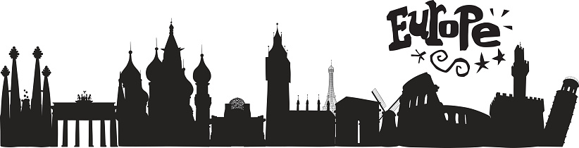 Europe Skyline with lettering