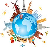 Vector Europe Travel