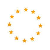 Europe union star icon. Vector illustration