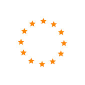 Europe union star icon. Vector illustration
