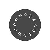 Europe union star line icon. Vector