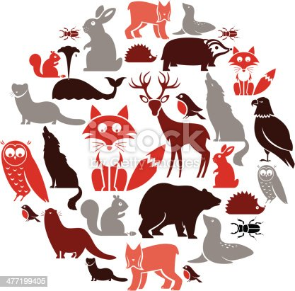 A set of European animals. See below for the other continents. Click below for more animal sets