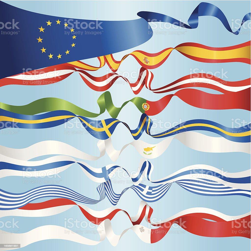 European Banners vector art illustration