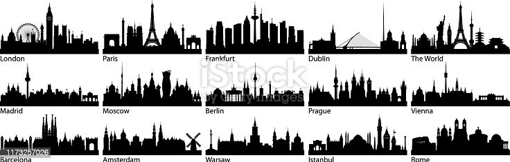 European cities. All buildings are complete and moveable.