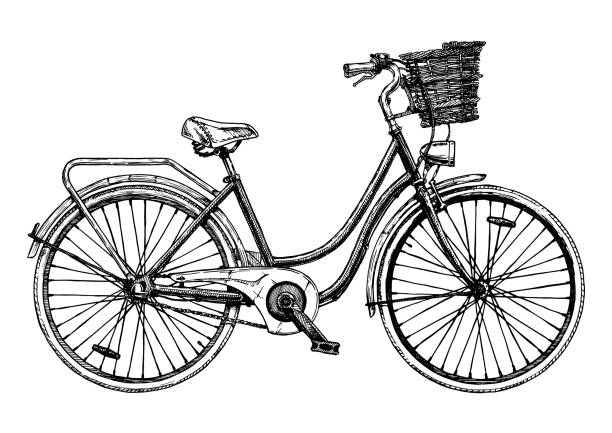 european city bike - bike stock illustrations, clip art, cartoons, & icons