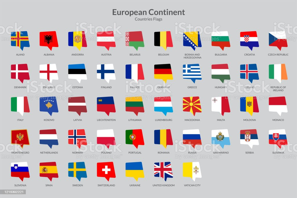 European Countries Flag Icons Collection Chat Flag Icons Stock Illustration Download Image Now Istock