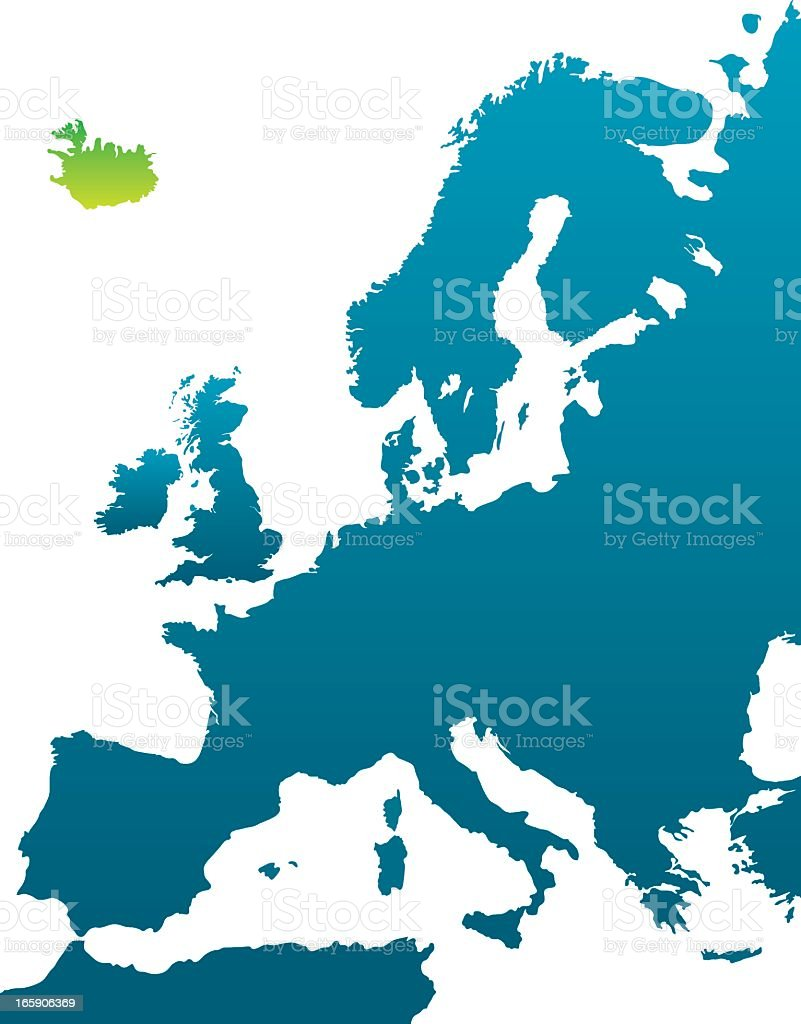 European Countries: Iceland royalty-free european countries iceland stock vector art & more images of blue