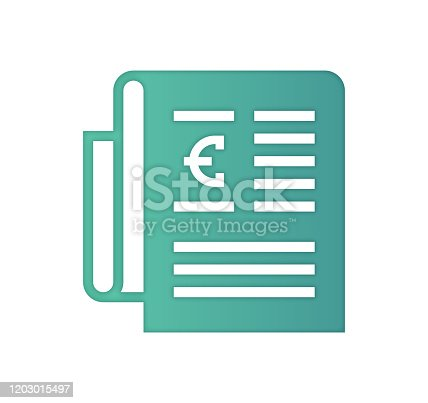 European distribution design, gradient color painted by path of the icon with inner shadow. Papercut style graphic can also be used as simple vector template for silhouette illustrations.