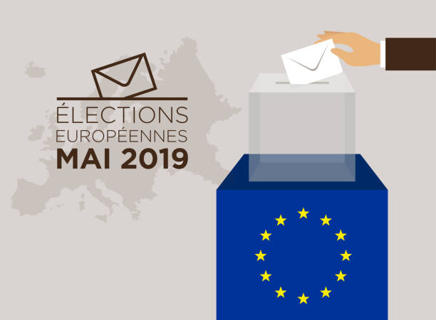 2019 avrupa seçimlerinde - election stock illustrations