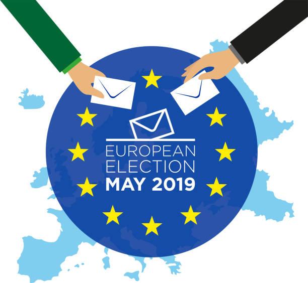 europawahl 2019 - kanzlerin stock-grafiken, -clipart, -cartoons und -symbole