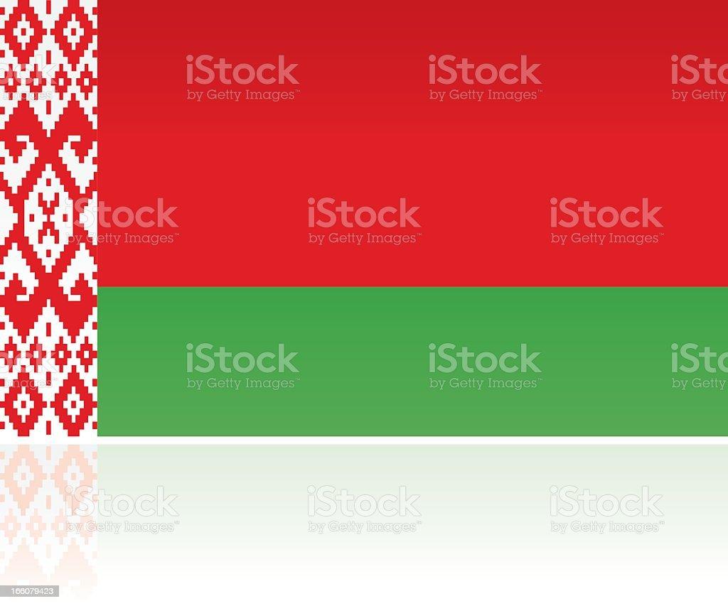European Flag: Belarus vector art illustration
