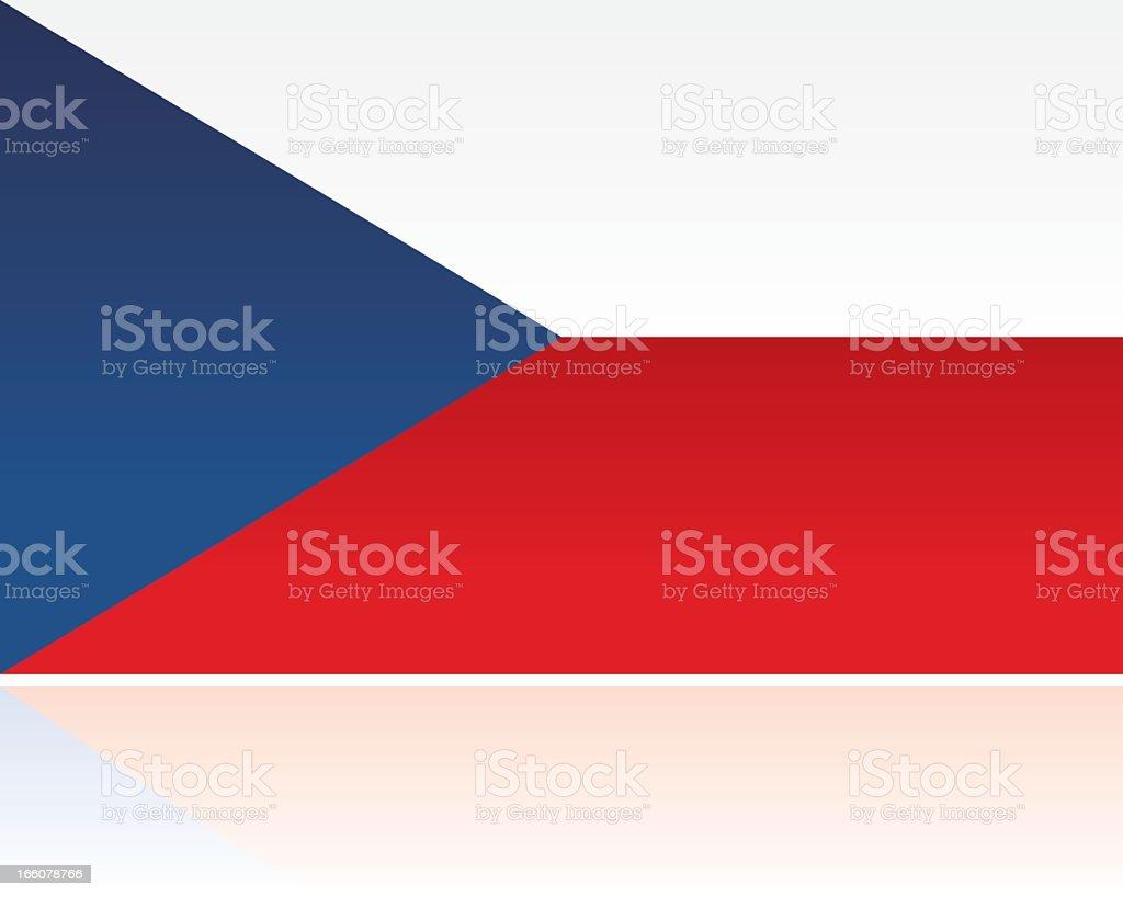 European Flag: Czech Republic royalty-free stock vector art
