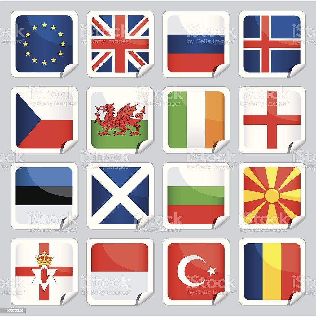 Europäische Flagge Symbole – Vektorgrafik
