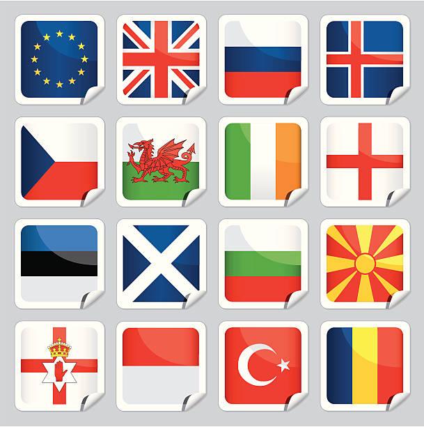 european flag icons - wales stock illustrations, clip art, cartoons, & icons