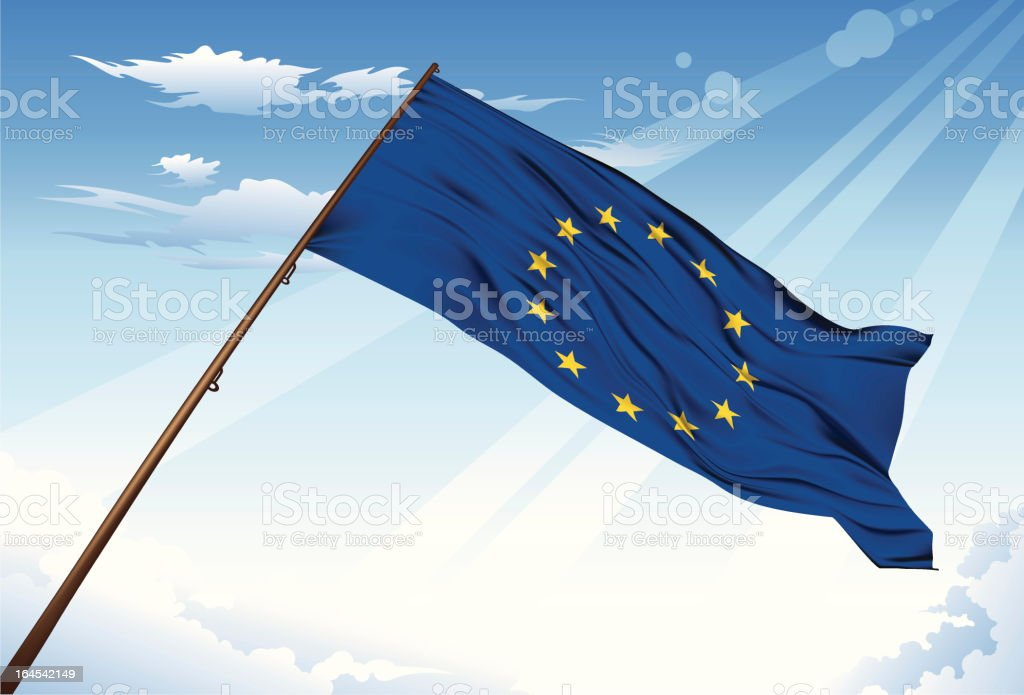 European  flag royalty-free european flag stock vector art & more images of backgrounds